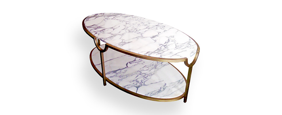 Marble Coffee Table Open Plan Living