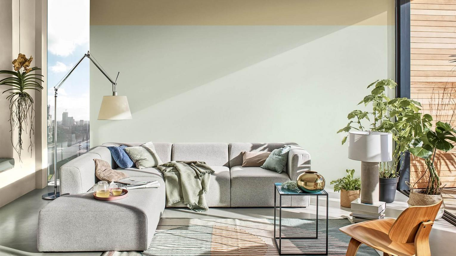 Sophisticated pastels for living room projects