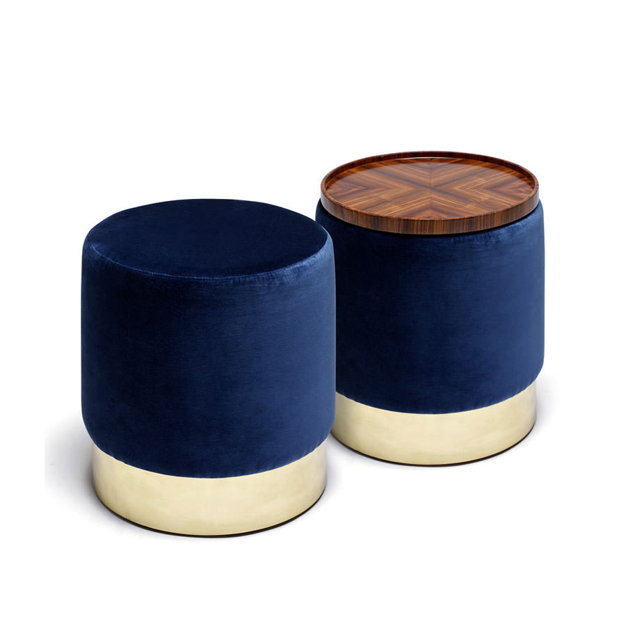 Lune C  Stool - Stools and benches
