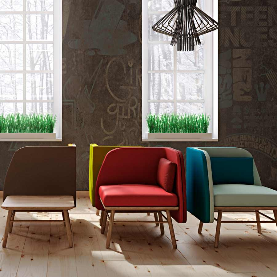 Bi Silla is the stylish and comfortable chair that is perfect for a lobby. Thanks to its symmetry, it can be adapted to different places and draw different figures according (...)