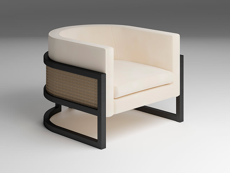 JULIUS CANED ARMCHAIR - Products
