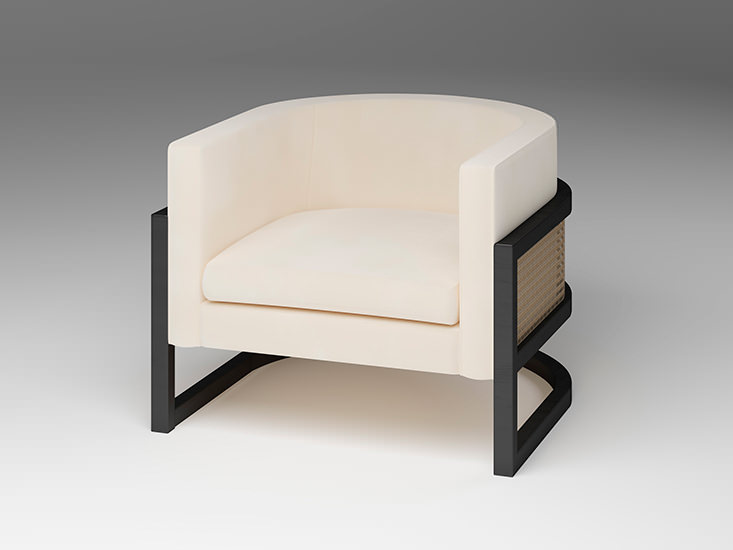JULIUS CANED ARMCHAIR