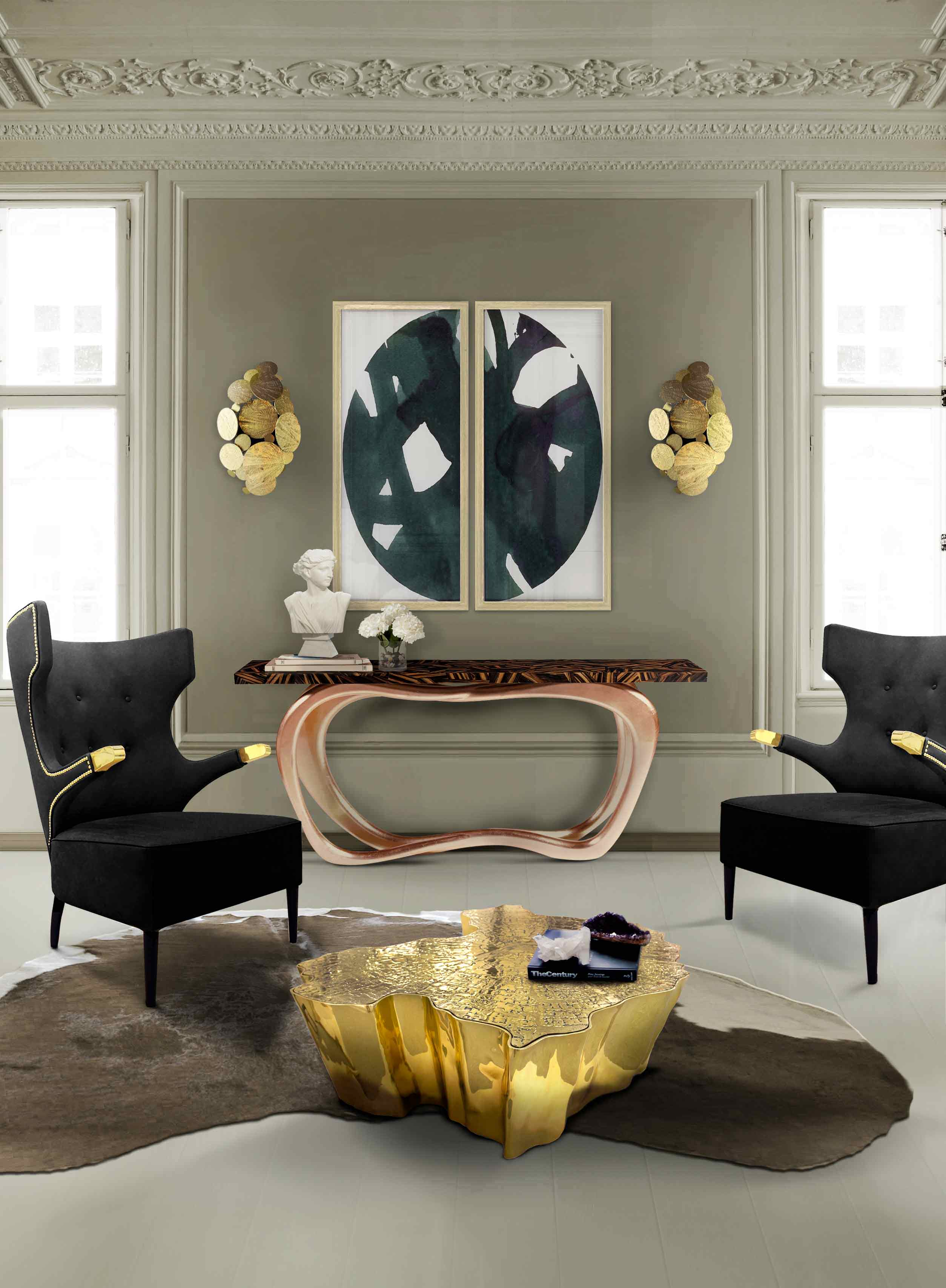 The Infinity Console Foyer Table exhales style, grace and luxury. The sinuous and elegant lines of this console table will look stunning in either a modern or classic (...)