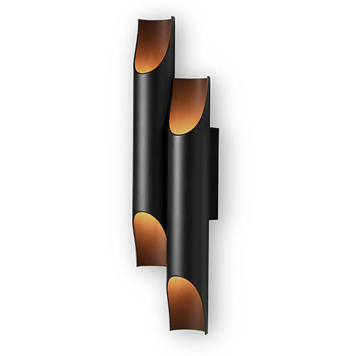 An expressive design inspired in jazz music. Galliano wall fixture has a sculptural shape crafted from three steel tubes whith a brass base. An extremely balanced design (...)