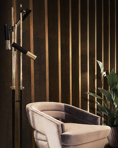 This rhythmic and elegant composition with its clean and black lines create a refined and modern look to any interior. Crafted from highly durable materials, its brass body (...)
