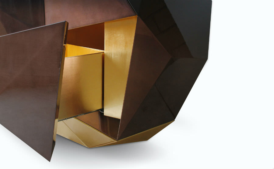 Diamond Chocolate Sideboard - Furniture