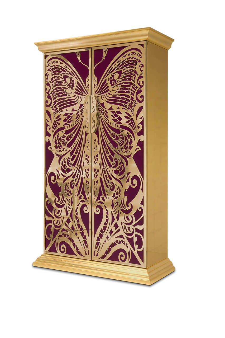 Designed with a profound admiration and influence of the French decorative arts, the Mademoiselle Armoire will transport you to another world in a crazy beautiful kind of way.