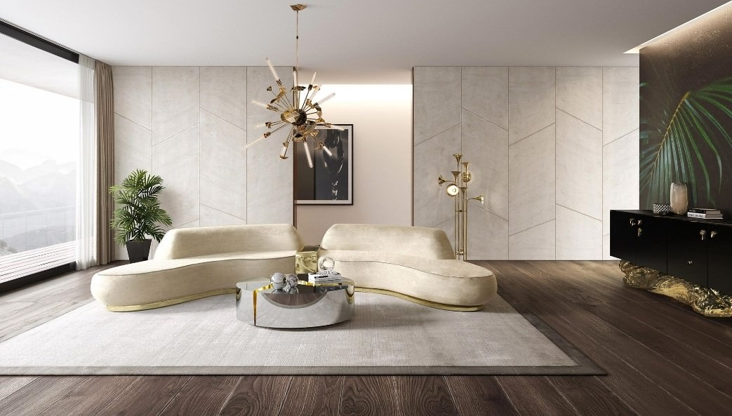Imagine a stone frozen and freshly cracked to show the entire world a rich, golden interior. The polished brass details and mirrored sides attribute this luxury design (...)