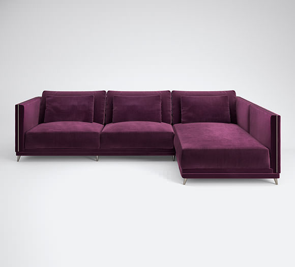 Alexandrite chaise sofa celebrates the luxury and opulence, is a tribute to natural beauty highlighted by the smooth velvet, inviting you to relax in the comfort of this (...)