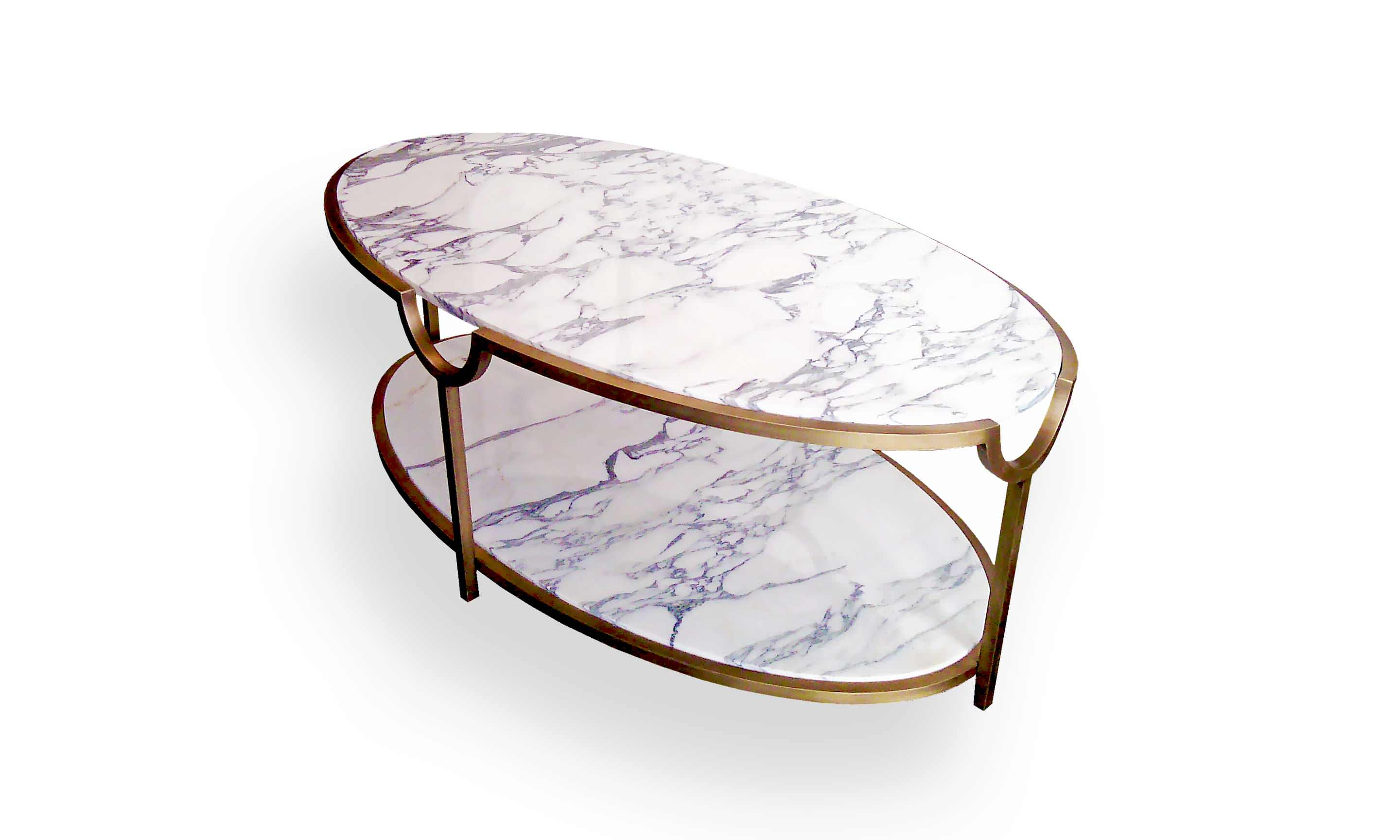 Arabescato marble coffee table - Products