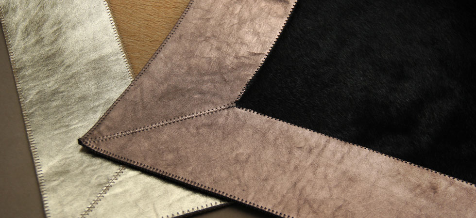 Cowhide with Metallic Bronze